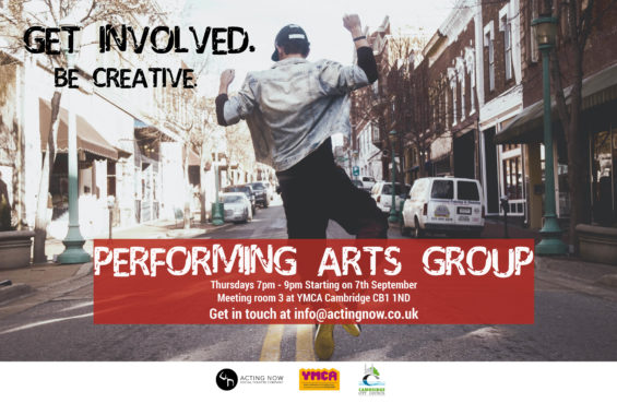 Get in touch at info@actingnow.co.uk
